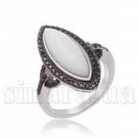 Серебряное кольцо с ониксом 15886