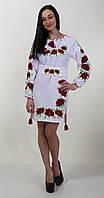 """Вышитое платье""""МАК"""" с длинным рукавом"""