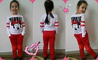 Детские супер-модный стильный спортивный красно/белый костюм Микки. Арт-1522