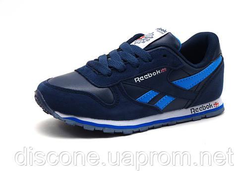 Кроссовки детские Reebok Classic, комбинированные, темно-синие