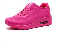 Кроссовки летние Nike Air Max 90 подросток/женские, малиновые, фото 1