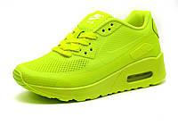 Кроссовки летние Nike Air Max 90 подросток унисекс, комбинированные, салатовые, фото 1