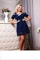 Шикарное летнее платье из натуральной ткани с вышивкой Миледи