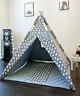 Детская палатка вигвам + коврик - Овечки