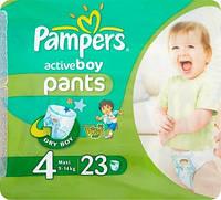 Подгузники-трусики Pampers Active boy pants 4  для мальчиков 23 шт. памперс