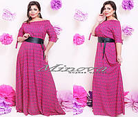 Платье летнее в пол турецкий штапель размеры 50,52,54,56