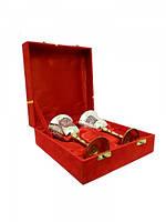 Набор свадебных бокалов в красной коробочке