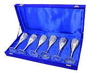Набор фужеров для шампанского 6 шт в синей коробочке