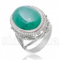 Серебряное кольцо с хризопразом 5316