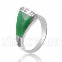 Серебряное кольцо с хризопразом 8102