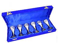 Подарочный набор рюмок 6 шт в синей коробочке