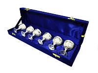 Подарочный набор маленьких рюмок 6 шт в синей коробочке