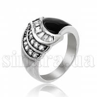 Серебряное кольцо с эмалью 11461