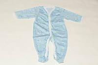 Человечек (комбинезон) на новорожденного мальчика, открытая ручка, рост 55-60 см