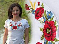 Женская футболка вышиванка белая