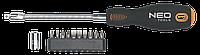 Набор отвертка с гибким валом + 10бит. Neo 04-212