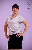 """Блуза женская """"Alexo"""" свободного покроя с украшением по вырезу"""