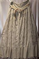 Стильная женская юбка с вышивкой и карманами ботал в расцветках