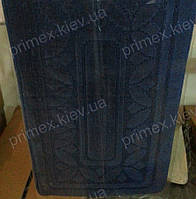 "Набор ковриков для ванной, 60х100 + 60х50см. ""Орнамент из листиков"", цвет синий"