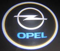 Подсветка дверей с логотипом марки автомобиля
