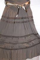 Модная летняя юбка больших размеров в расцветках
