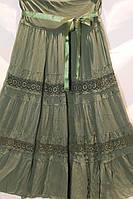 Модная летняя юбка в пол больших размеров