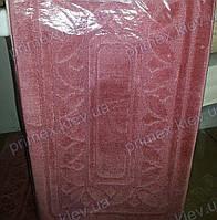 """Набор ковриков для ванной, 60х100 + 60х50см. """"Орнамент из листиков"""", цвет розовый"""