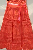 Молодежная длинная юбка с узором больших размеров