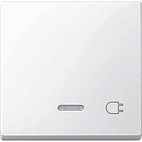 Клавиша с окошком для световой индикации и маркировкой, полярно-белый Shneider Merten(MTN435219)