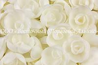 Вафельные цветы «Розы малые белые» 160 шт