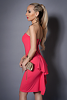 Платье женское с балеро,мод 473-3 размеры  44,46,48 коралл