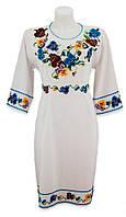 Платье Анютины Глазки бисером или вышивкой нитками по желанию