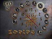 Часы настенные 56, зодиак 30х40 для кухни, гостиной, детской, спальни. Подарок