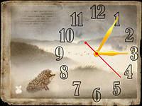 Часы настенные B 65 ёжик в тумане, 30х40 для кухни, гостиной, детской, спальни. Подарок