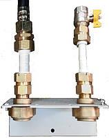 Муфта для газовой гофрированной трубы Ду 15  (папа)