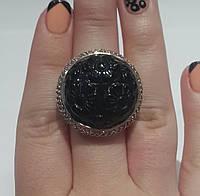 Серебряный перстень с натуральным ониксом