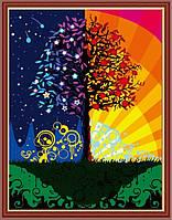 Картина по номерам на холсте Идейка Дерево счастья KH224