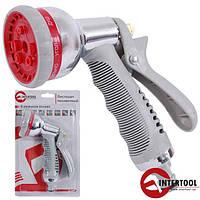 Пистолет-распылитель для полива хромированный 8-ми функциональный AB Intertool GE-0004