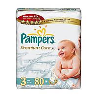 Подгузники Pampers Premium Care midi 3 (4-9 кг) 80 шт. памперс премиум