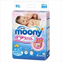 Подгузники  Moony Disney (Муни) NB(0-5) 90шт. Японские