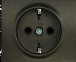 Лицевая панель розетки электрической 2К+З с заземлением Темная Бронза Legrand Galea Life (771220)