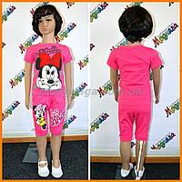 Бриджи и футболка - комплект для стильных и маленьких девочек