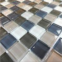 Мозаика прозрачное стекло Vivacer микс 2,5*2,5 Mix C04