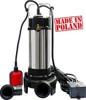Насос фекальный с режущим механизмом Optima V1100 1.1кВт (Польша)