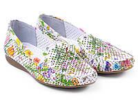Яркие цветочные женские мокасины Etor