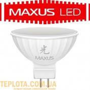Светодиодная лампа  MAXUS LED MR16 4W 3000K 220V GU5.3 (1-LED-405-01)
