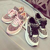 Кроссовки с вязаными вставками реплика Chanel