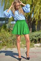 """Модная женская юбка """"Солнце"""" зеленый"""