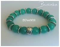 Браслет женский зелёный из натуральных камней Амазонита  BD6002