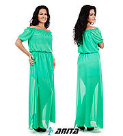 Д244 Платье шифон длинное